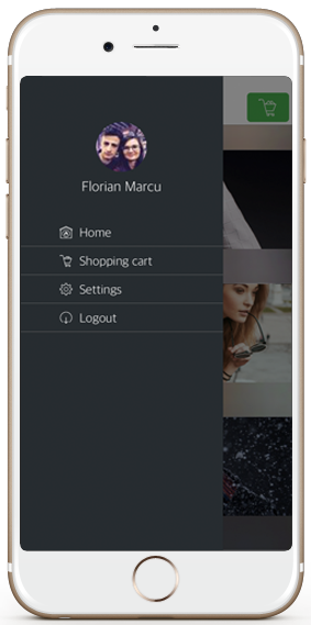 ecommerce ios app template navigation drawer iphone
