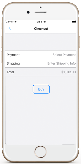 ecommerce ios app template stripe payment checkout iphone