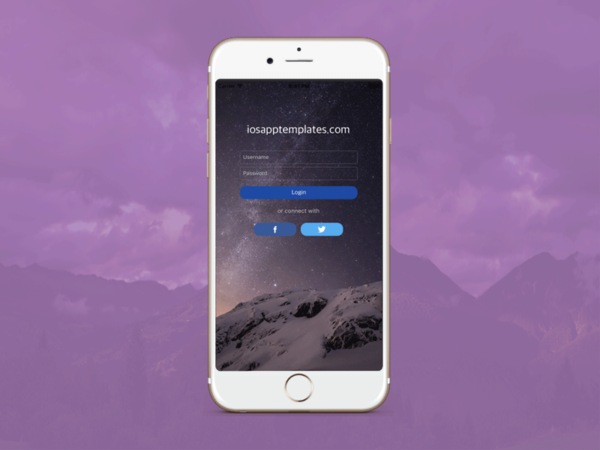 ios login screen template swift 3 cover