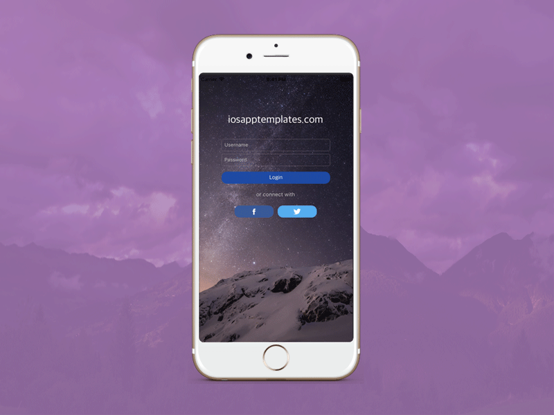 iphone screen template free iphone login screen template in 4 ios app 12295