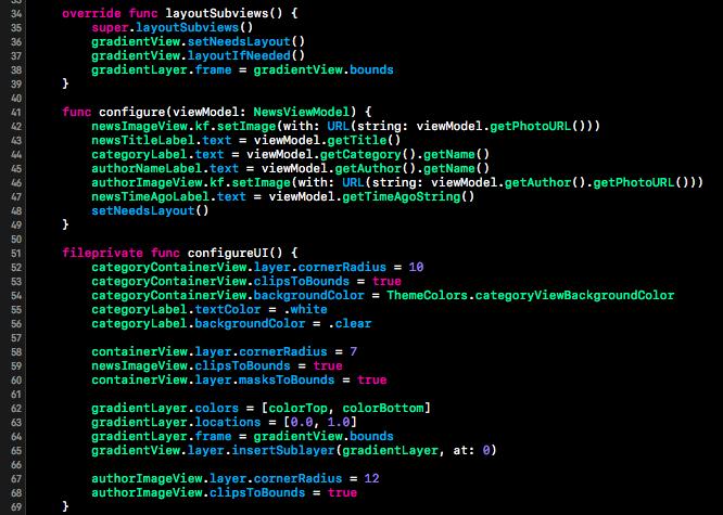 Wordpress iOS App Template Swift Code Snippets