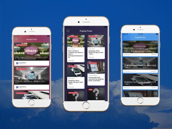 Wordpress iOS App Template Blog Cover