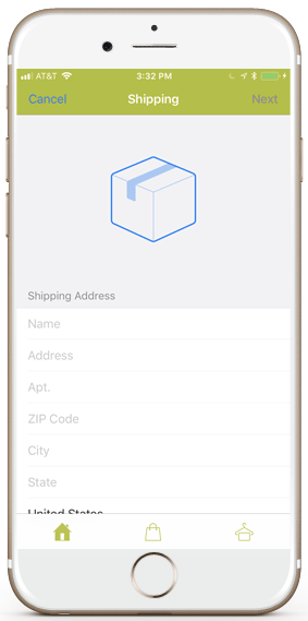 firebase-ecommerce-ios-template-shipping-address-green