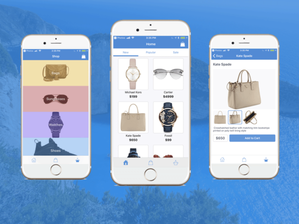firebase ios shopping app iphone swift ecommerce