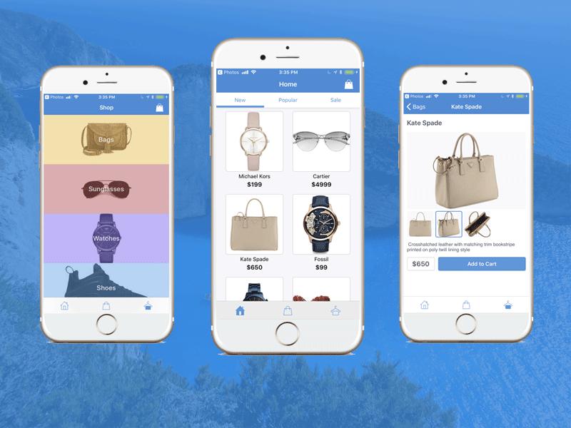 firebase ios shopping app iphone swift ecommerce