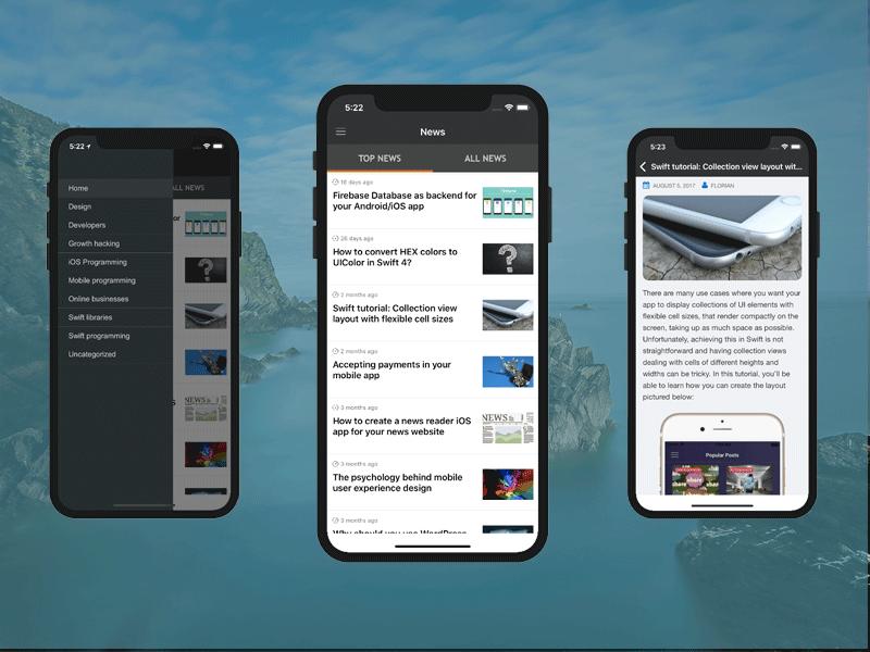 reuters news reader iphone app template wordpress