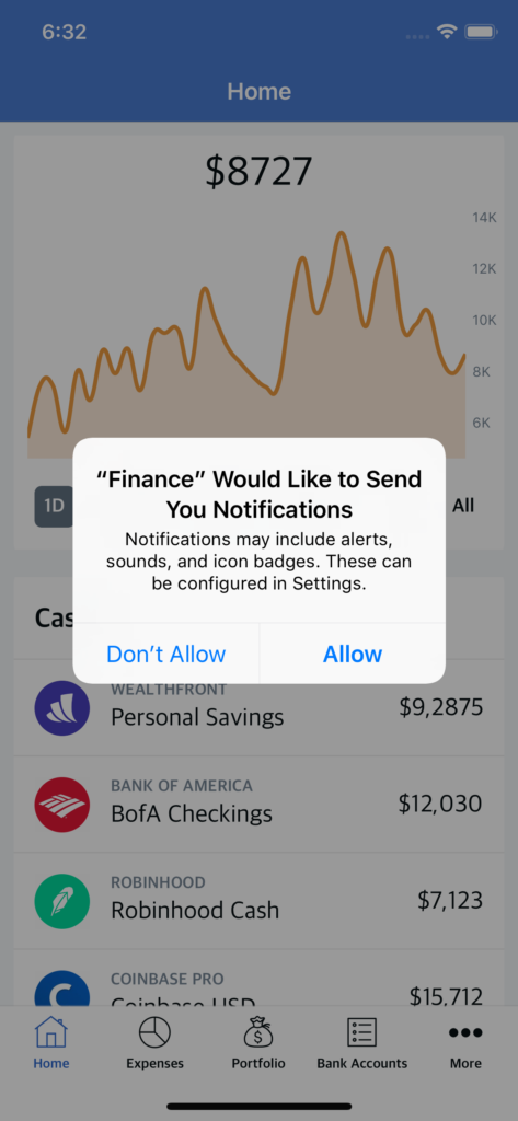 mobile finance app template