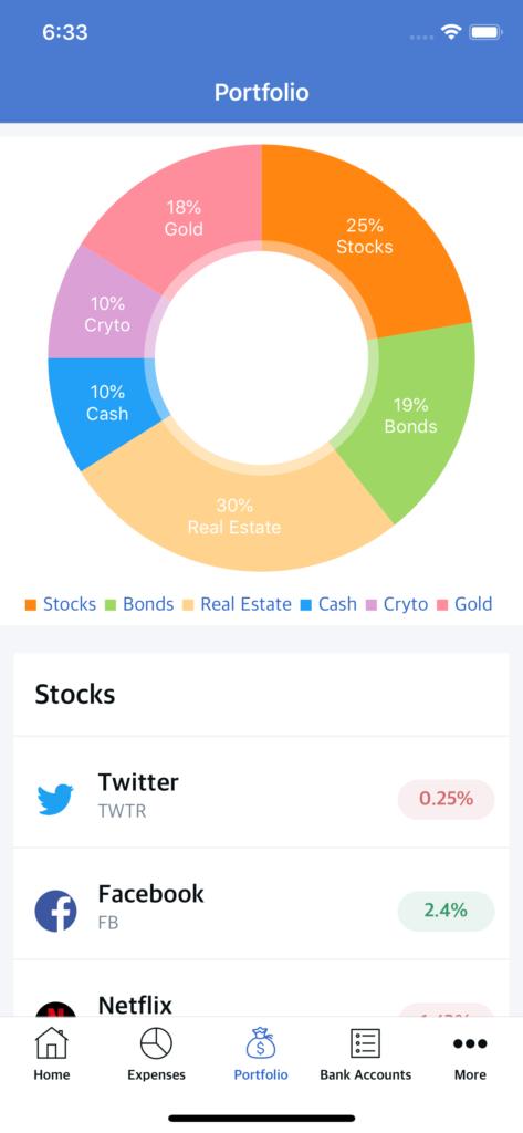 investment portfolio app template