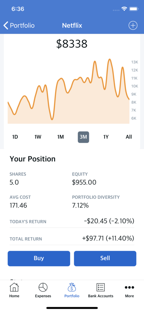 iOS stock trading app template