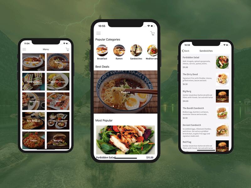 food order restaurant app template