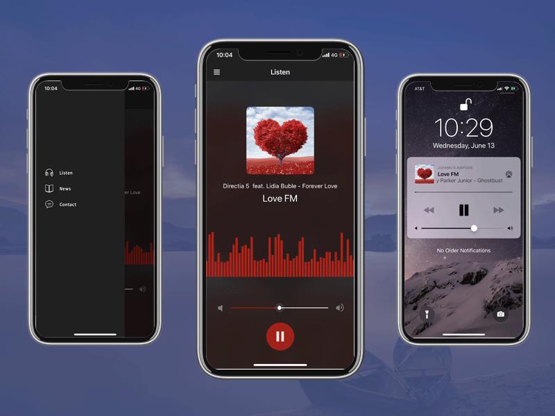 radio station music app template swift xcode iphone
