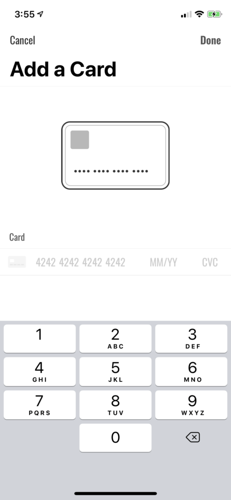card reader iOS