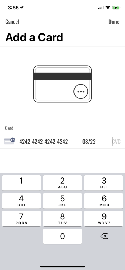 card payment shopify