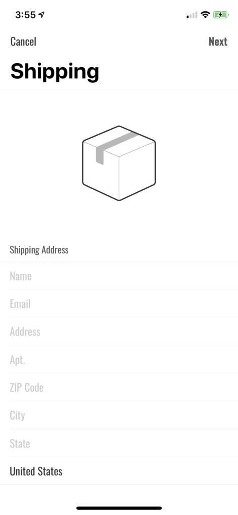 address picker Xcode