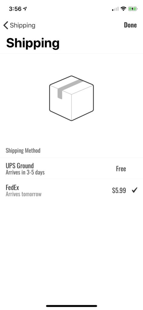 delivery app iOS