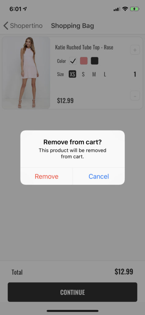 mobile shopping template