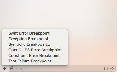 generic breakpoints xcode exception test case debugging swift objective c