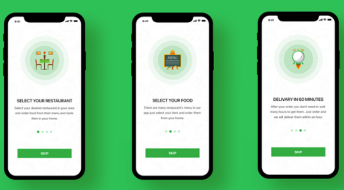 best iOS walkthrough app designs templates inspiration