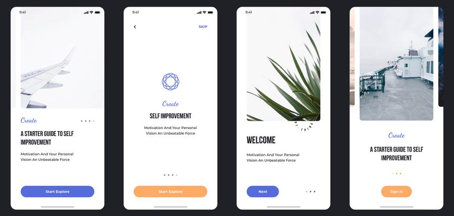 think ui Best iOS Walkthrough App Designs