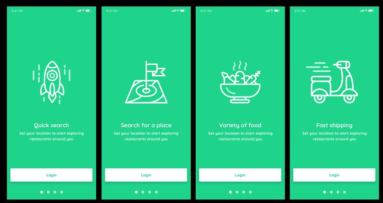 ui mobile ios walkthrough app design templates