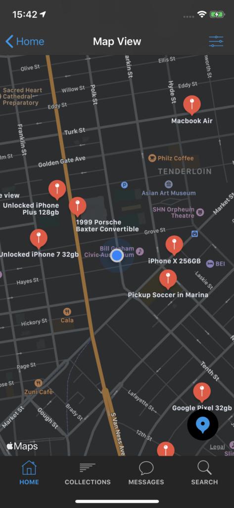map app template