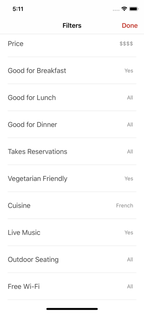 restaurant locator iPhone app template app design swift backend yelp clone foursquare