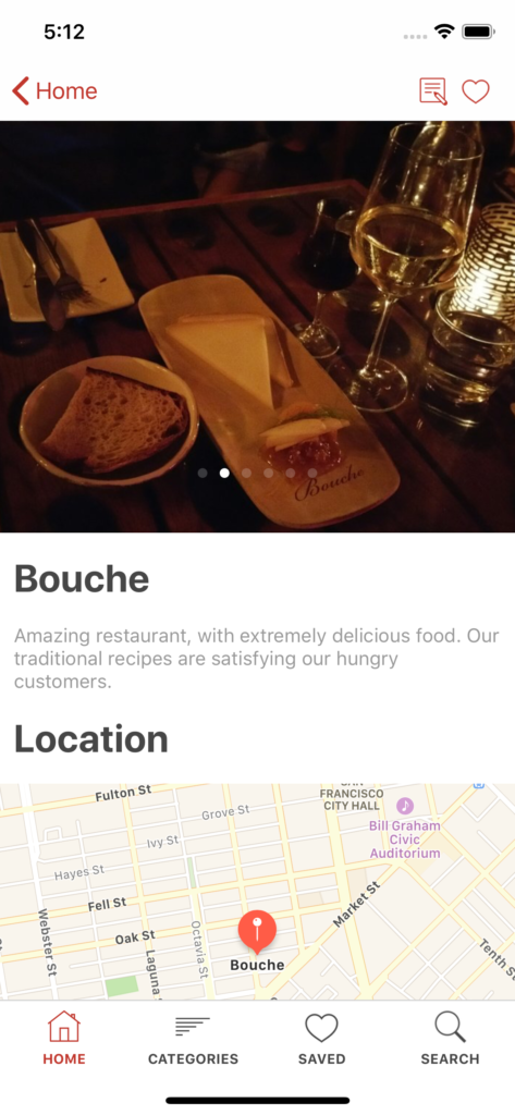 restaurant finder iPhone app template app design swift backend yelp clone foursquare
