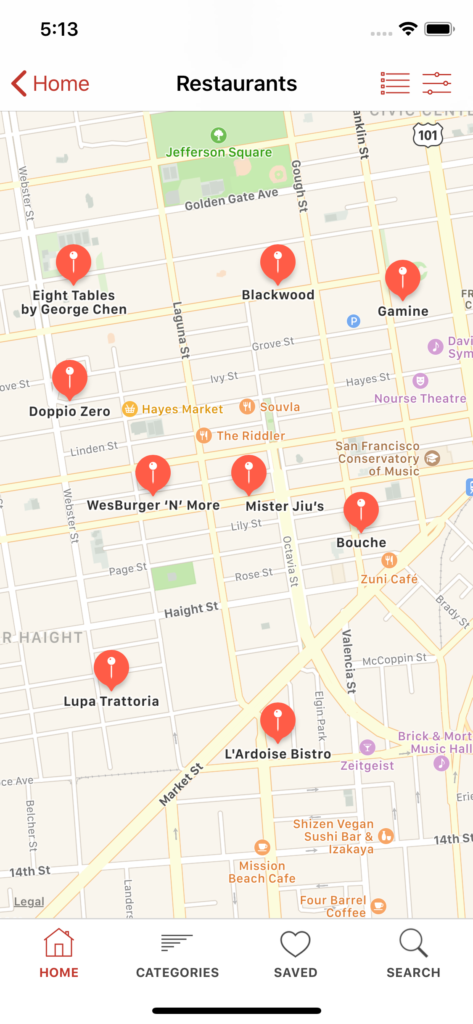 restaurant finder iOS app template app design swift backend yelp clone foursquare