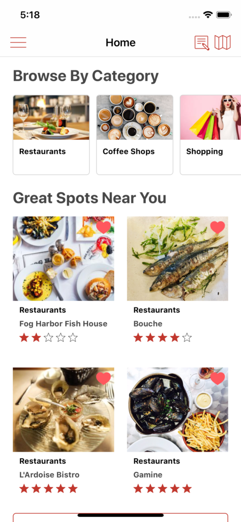 store locator iOS app template app design swift backend yelp clone foursquare