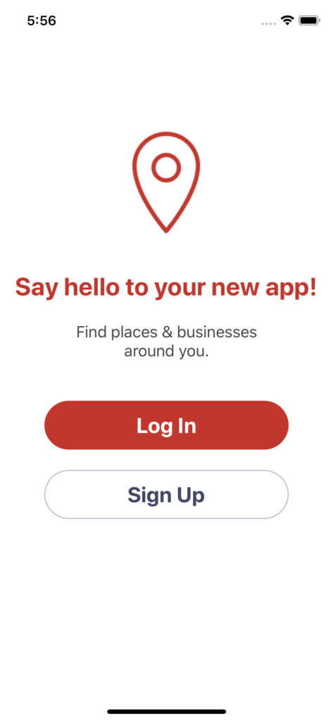 aroundme clone app welcome app design