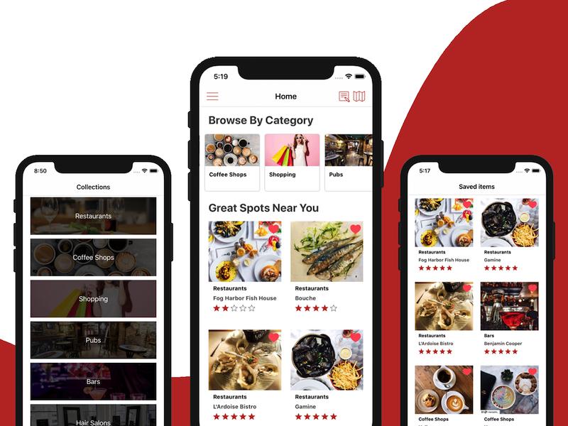 universal store locator iOS app template swift backend yelp clone app design iphone