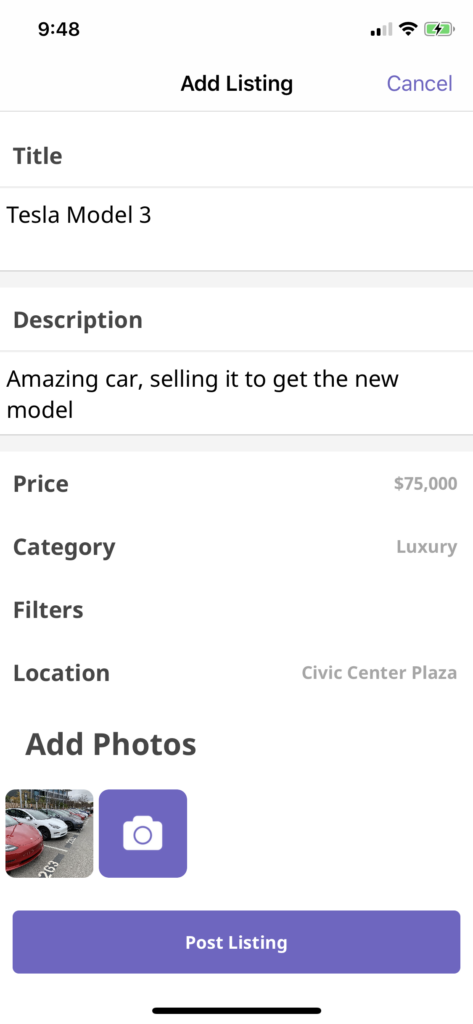 car rental app template