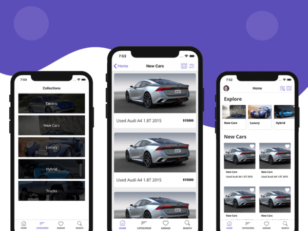 mobile car dealership app template iOS Swift automotive