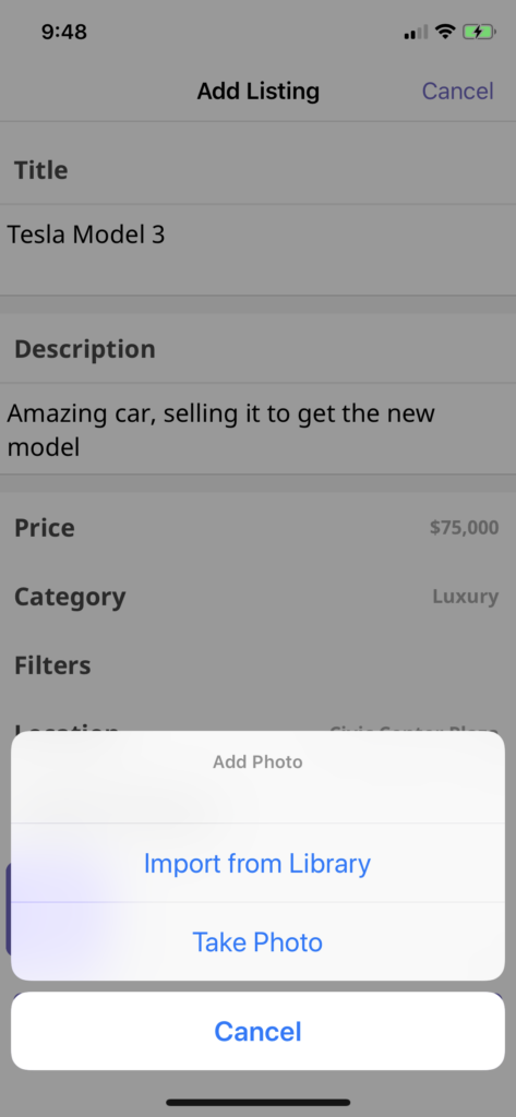 turo clone iOS Swift app