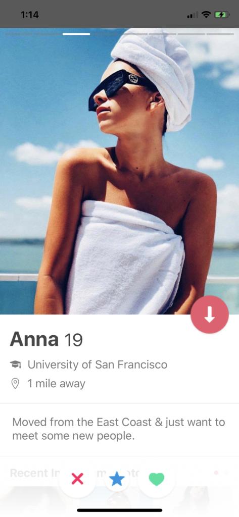 dating profile iOS design