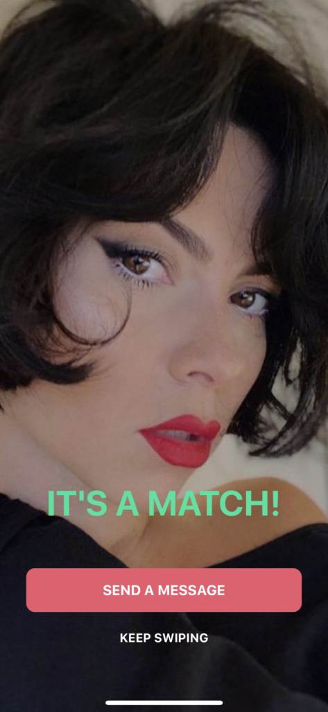 its a match dating iOS design