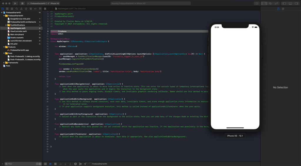 run xcode project