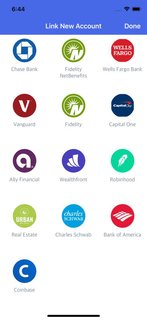 finance app templates