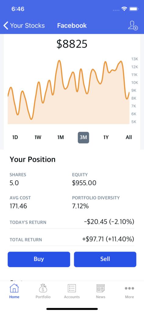 stock news ui kit