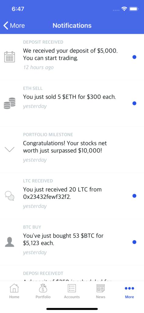 stock simulator app template