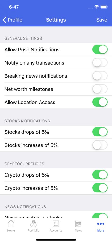 stocks swift xcode