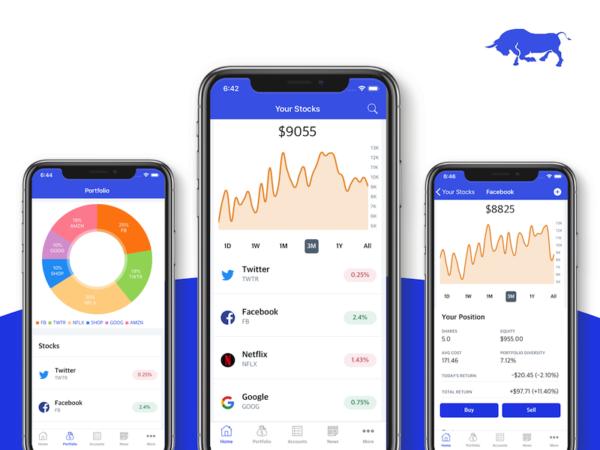 stocks app template iOS