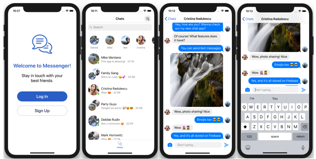 real-time ios chat app