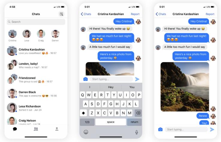 messenger clone app
