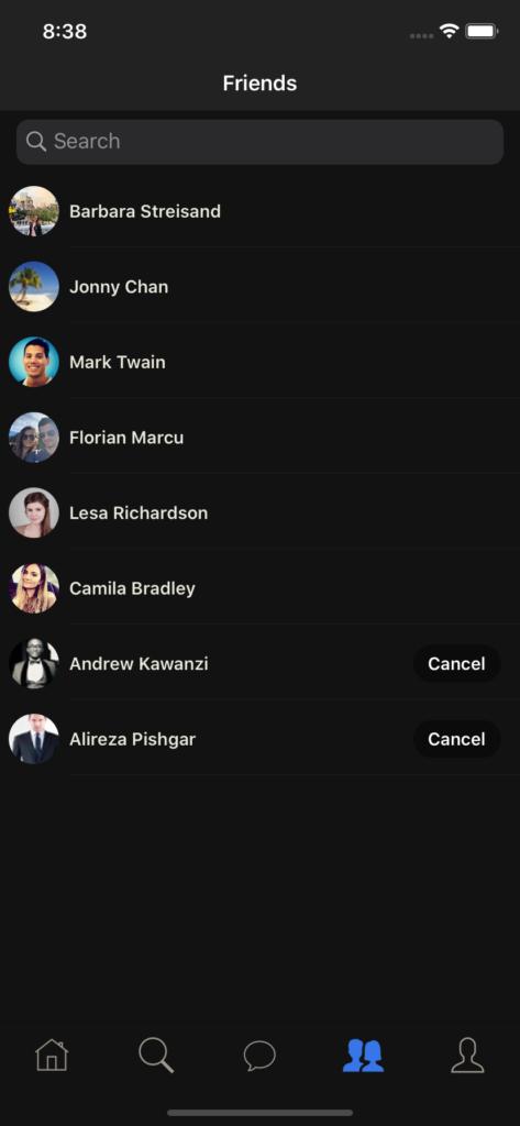 social app templates