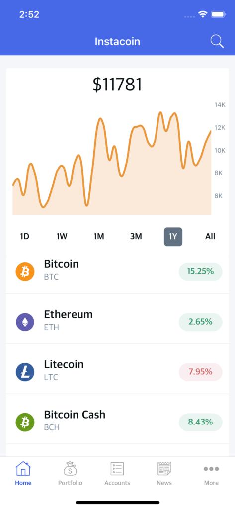 crypto app template