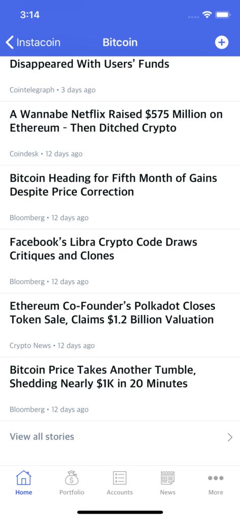 crypto mobile template