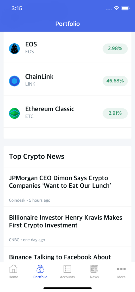 cryptocurrency app template