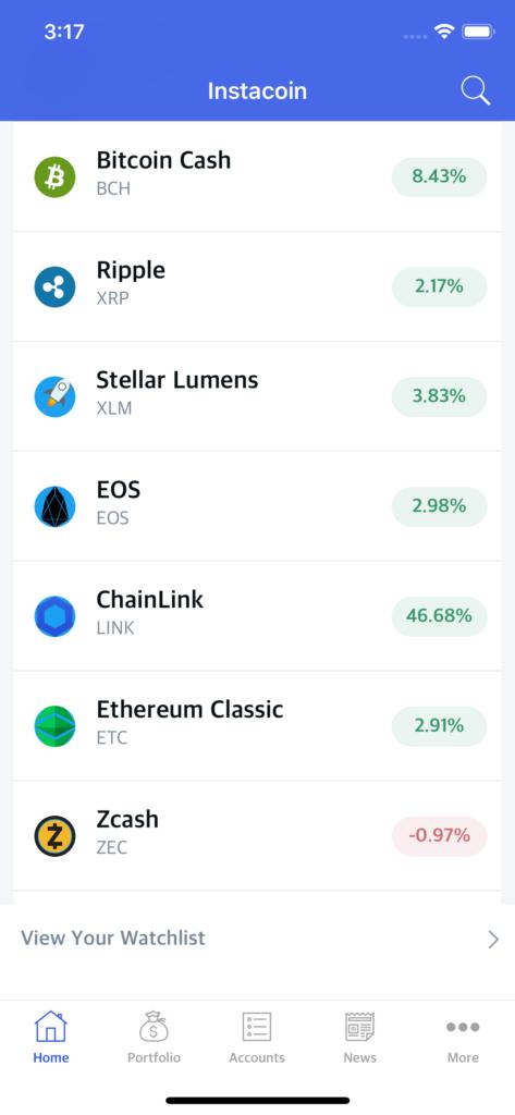crypto app template iOS