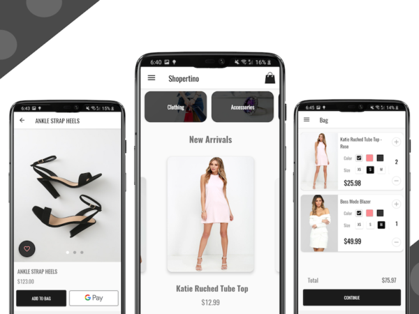 e-commerce app ios android